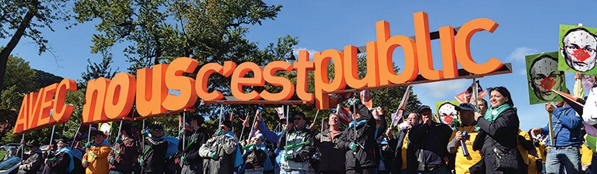 Campaigns privatisation Quebec