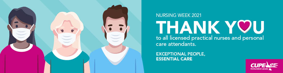 Digital ad. Nursing Week 2021: Thank you to all LPNs and PCAs
