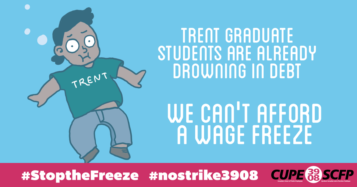 Trent student-workers can't afford a wage freeze