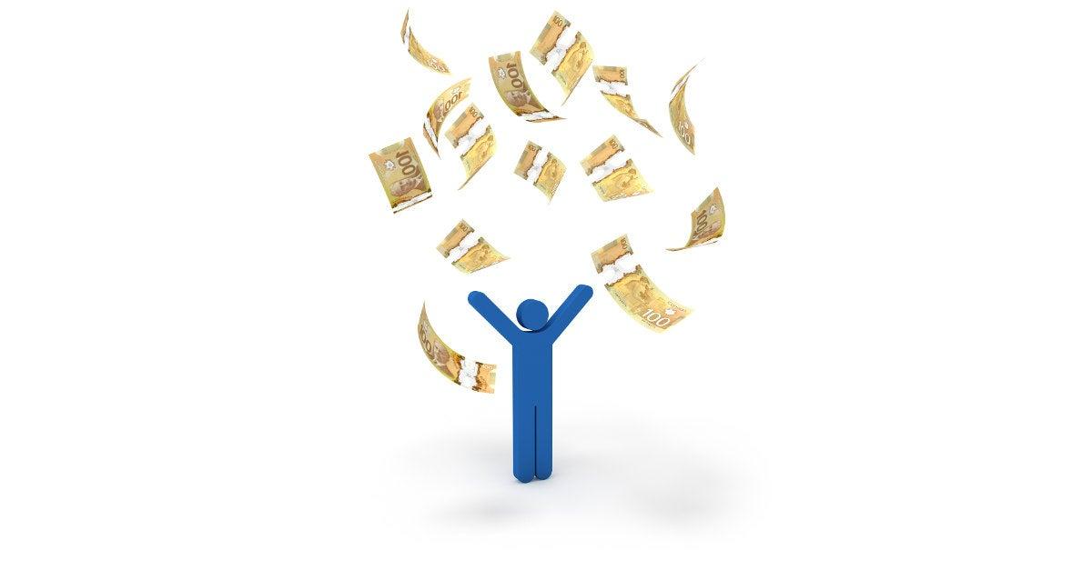 Image: Throwing money