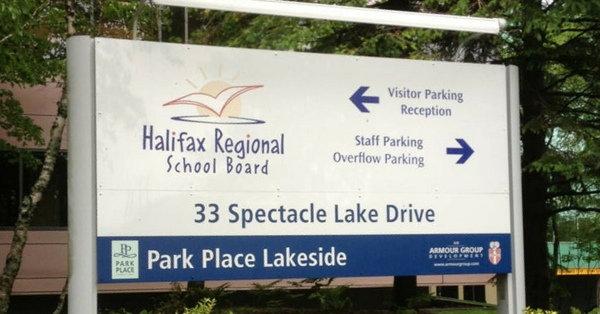Halifax Regional School Board sign