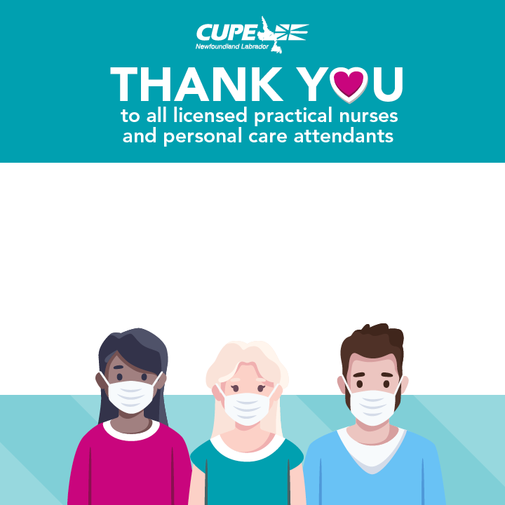 Facebook frame. Nursing Week 2021: Thank you to all LPNs and PCAs