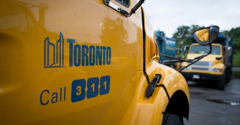 Toronto solid waste removal truck