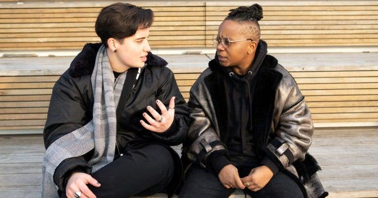 Gender diverse people talking