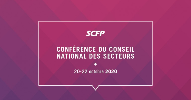 Conférence du Conseil national des secteurs, 20-22 octobre, 2020