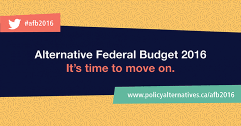 Alternative Federal Budget 2016 from the CCPA