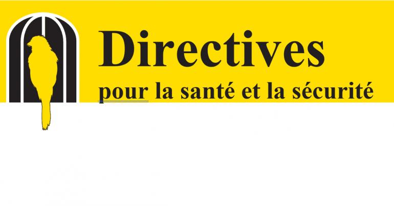 Directives pour la santé et la sécurité