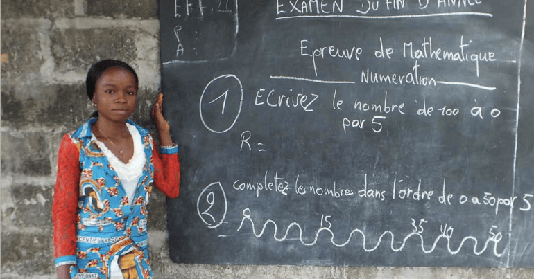 Judith teaches at a school in Equateur province, Democratic Republic of the Congo.