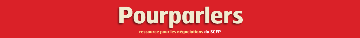 Bannière Pourparlers : ressource pour les négociations