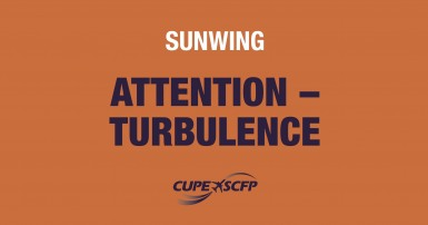 Risk of turbulence at Sunwing