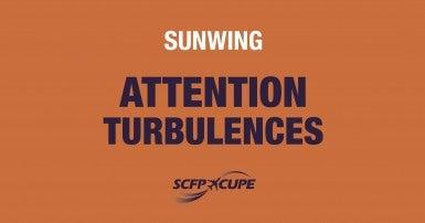 Risque de turbulences chez Sunwing