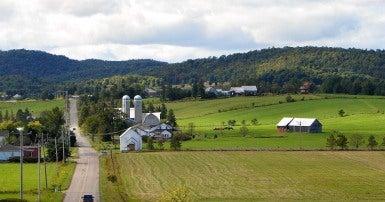 Vue de la Vallée de Harrington dans le Canton de Harrington, Québec, Canada. Wikimedia. P199