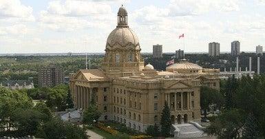 Alberta Legislature, Wikimedia by Kenneth Hynek