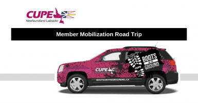 CUPE NL Boots on the Ground Tour Dates