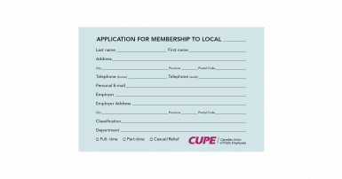 Image of Application for membership card