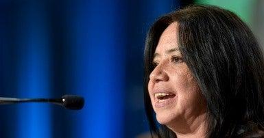 Berenice Celeita, President of the human rights organization NOMADESC