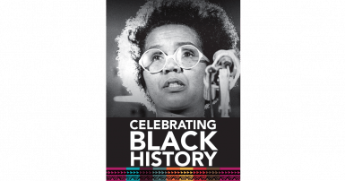 Photo of Rosemary Brown with text Celebrating Black History