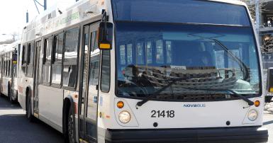 Un autobus du Réseau de transport de Longueuil. Photo archives SCFP