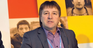 National Secretary-treasurer Charles Fleury at the UN Climate Change Conference In Paris in December 2015