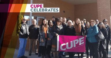 CUPE celebrates CUPE 1949 win