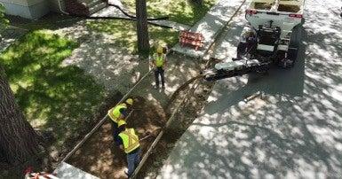 CUPE 21 members completing sidewalk work in Regina. Photo credit: Barry Rud/Fire Cube Video