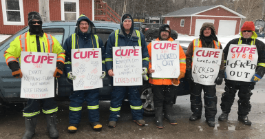 Locked out municipal employees at the Town of Holyrood