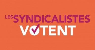 Les syndicalistes votent