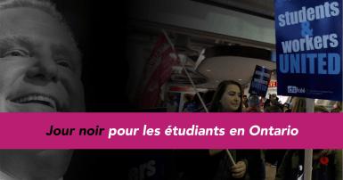 Jour noir pour les étudiants en Ontario