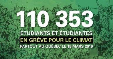 Un signe pour la grève du climat étudiant