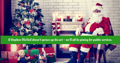 Santa by the fireplace: 'CUPE NS launches radio ads defending public services and the workers who provide them'