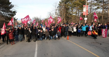 CUPE solidarity from coast to coast on display as workers at Carlton university strike