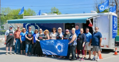CUPE BC Trailer rolls into Creston for a community barbecue