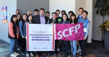 Charles Fleury with KPTU Korean Education Exchange Delegation