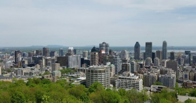 Le centre-ville de Montréal. Photo SCFP