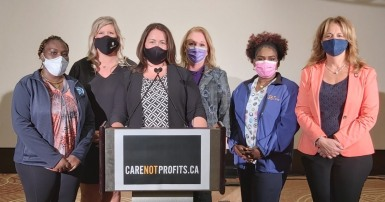 Care not profits media conference