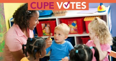 Early Learning and Child Care: CUPE votes