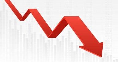 Stock market dropping
