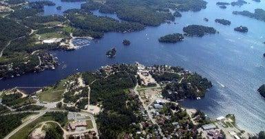 Aerial view of Kenora Ontario
