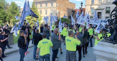 CUPE members in the transit sector