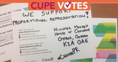 Proportional Representation: CUPE votes