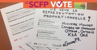 Représentation proportionelle: Le SCFP vote