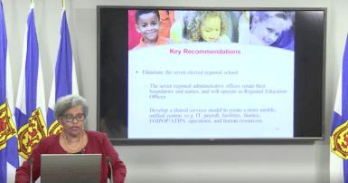 Dr. Avis Glaze Nova Scotia education report / Photo: Nova Scotia Government Facebook page