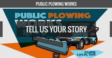 Public plowing works