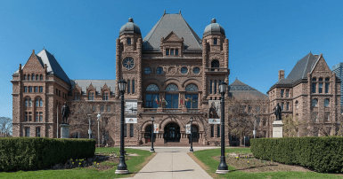 A south view of Ontario Legislative Building, Toronto. Wikimedia