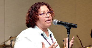 MEC leader Sandra Ramos at CUPE national convention