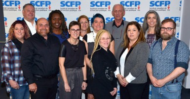 Members and organizers at CUPE Québec's first ever human rights conference held in Trois-Rivières.