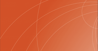 White arcs on an orange background