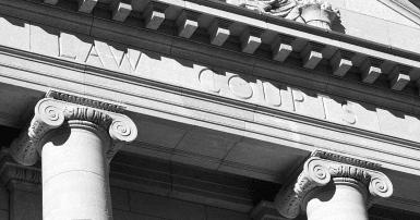 Manitoba court house in Winnipeg