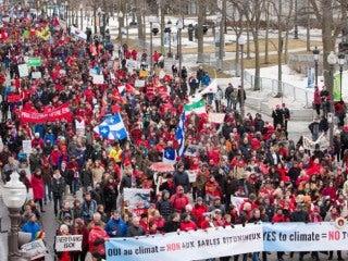 Marche Action Climat à Québec 11 avril 2015