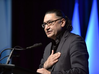 NDP Member of Parliament Romeo Saganash at the CUPE Human Rights Conference 2015